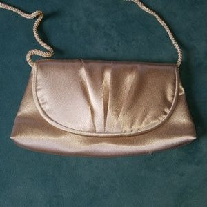 Champagne colored evening bag/clutch